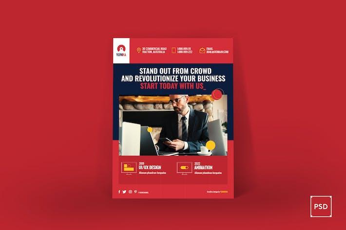 Thumbnail for Fresh Startup Business Poster