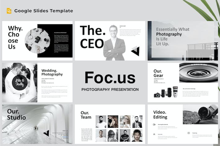 Thumbnail for Focus - Photography Google Slides Template