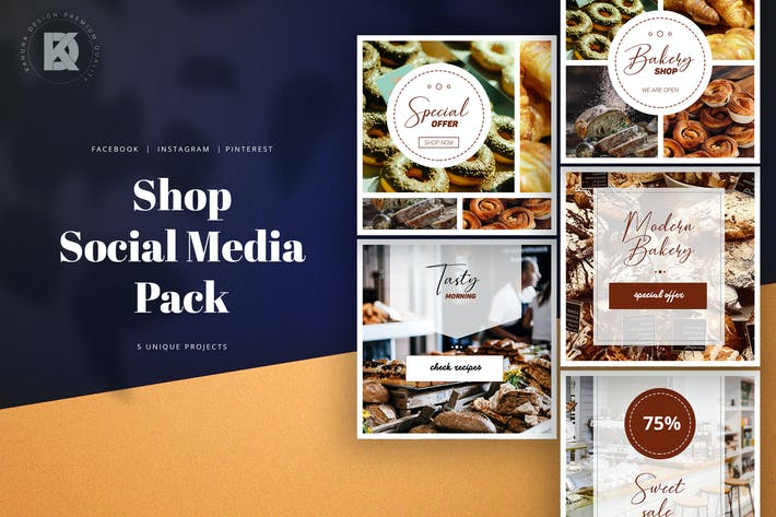 Thumbnail for Bakery Shop Social Media Pack