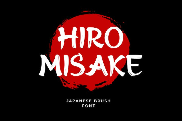 Thumbnail for Hiro Misake Brush Japanese Font