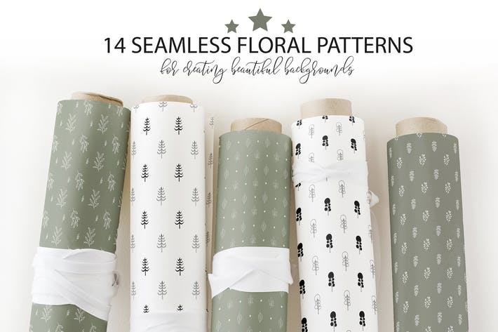 Thumbnail for Floral seamless patterns collection