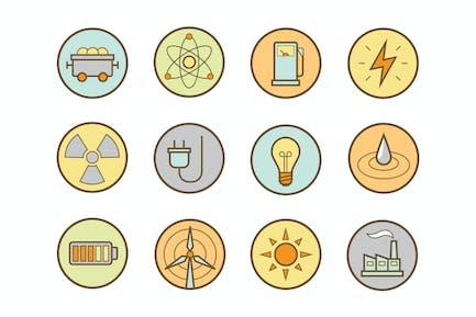 Energy Round Icons