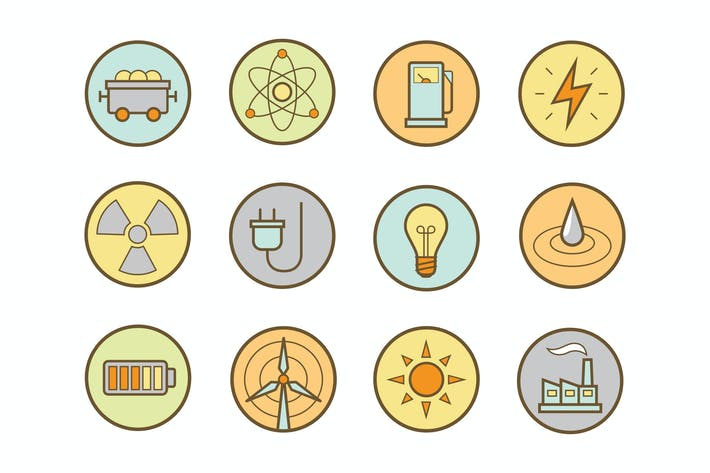 Thumbnail for Energy Round Icons