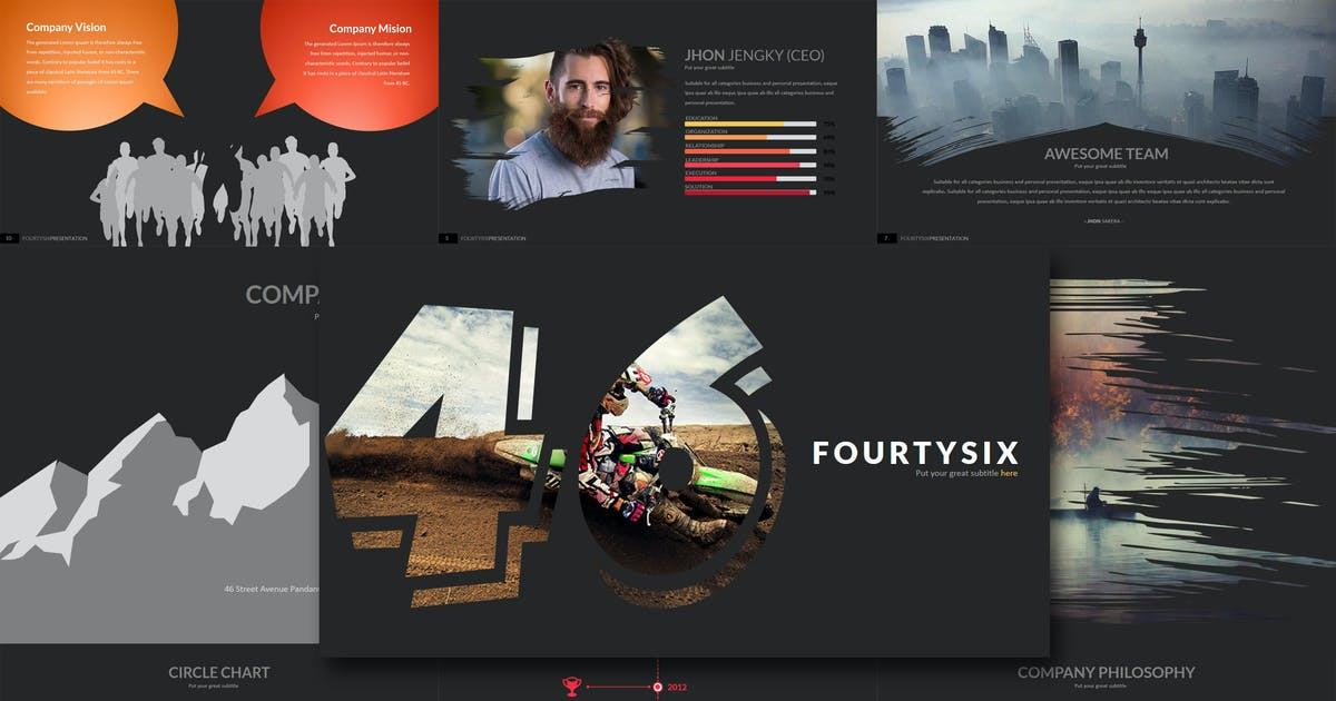 Download Fourty 6 - Keynote Template by Artmonk