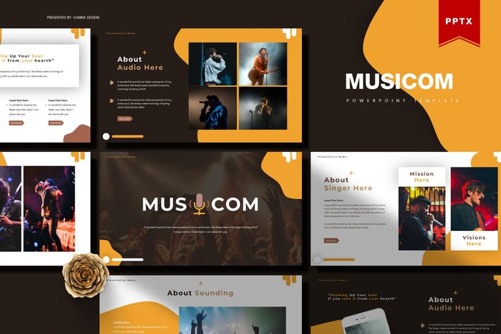 Thumbnail for Musicom| Powerpoint Template