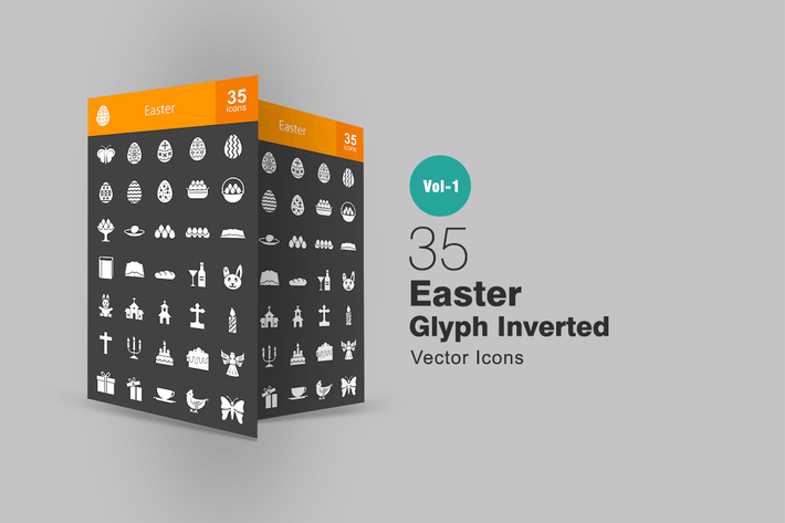 Thumbnail for 35 Easter Glyph Inverted Icons
