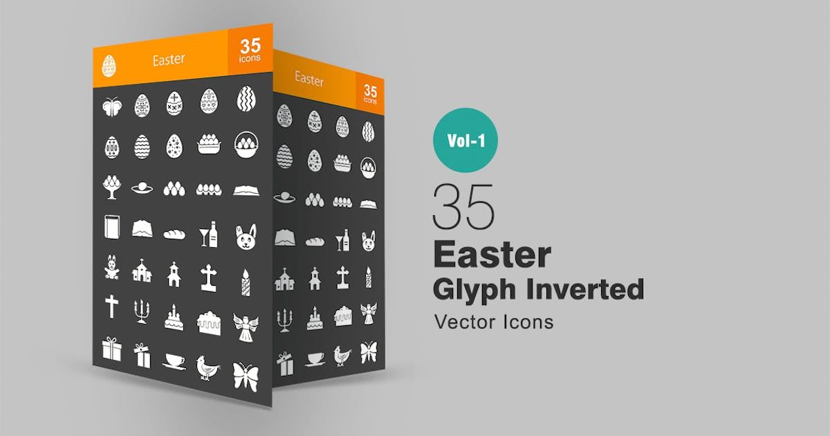 Download 35 Easter Glyph Inverted Icons by IconBunny