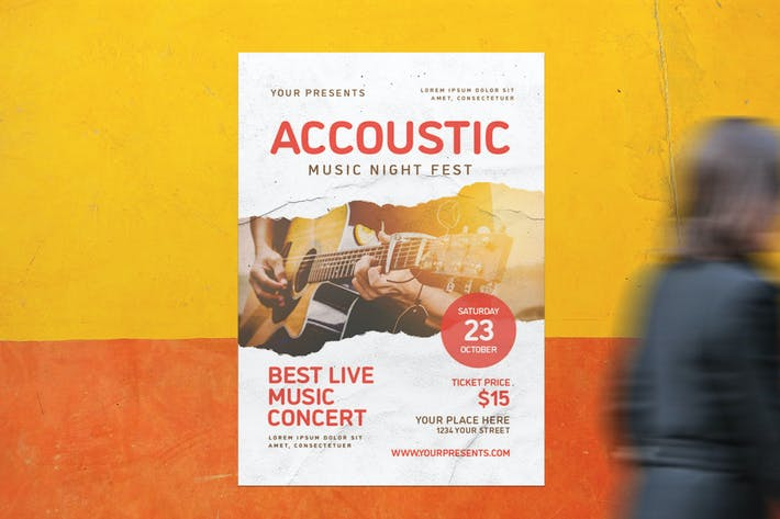Accoustic Music Flyer
