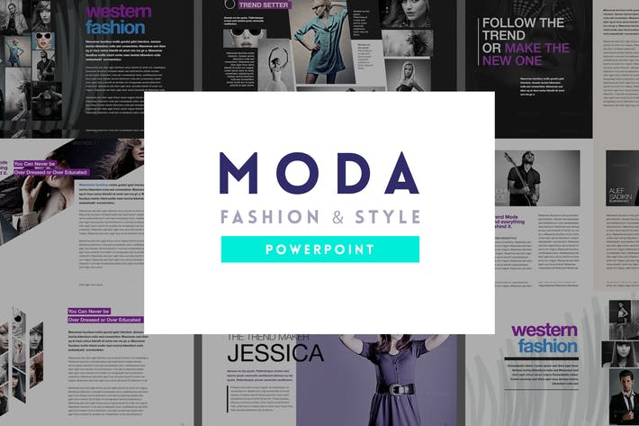Moda Fashion Style Powerpoint Template By Slidehack On Envato Elements