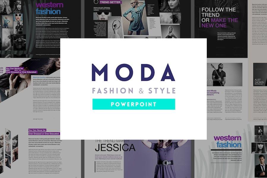 Moda - Fashion & Style Powerpoint Template