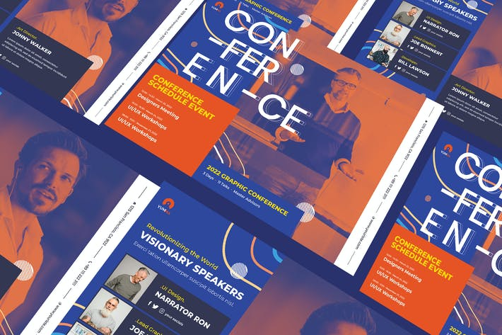 Thumbnail for Conference A5 Business Flyer PSD Template