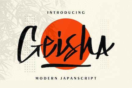 Geisha   Modern Japan Script