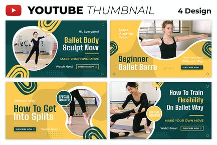 Ballet Dancer Youtube Thumbnail Template