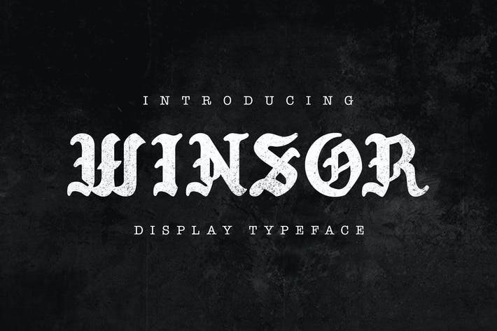 Thumbnail for Winsor Typeface