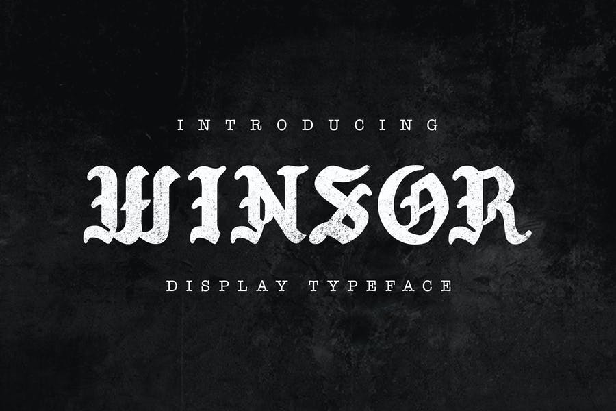 Winsor Typeface