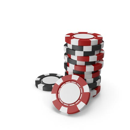 Red and Black Empty Chips for Casino