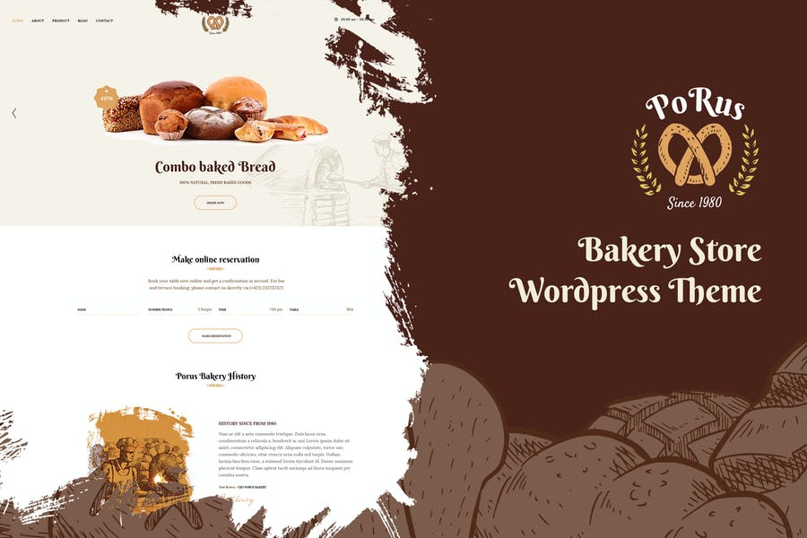 Porus - Bakery Store WordPress Theme