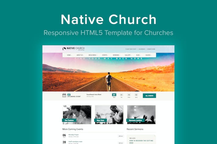 Thumbnail for Native Church - HTML5 Template for Churches