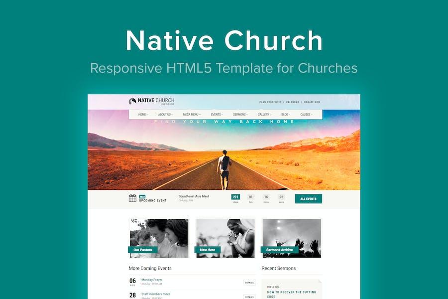 Native Church - HTML5 Template for Churches