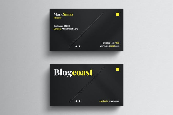 Thumbnail for Black Corporate Business Card Template