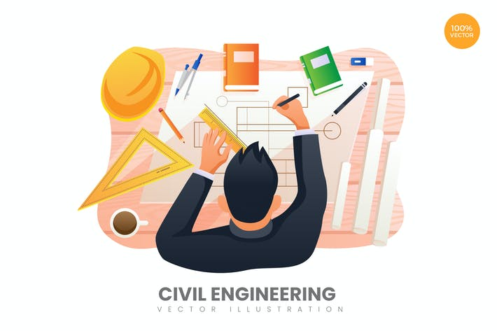 Thumbnail for Civil Engineering Vector Illustration Concept