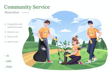 Community Service Illustration