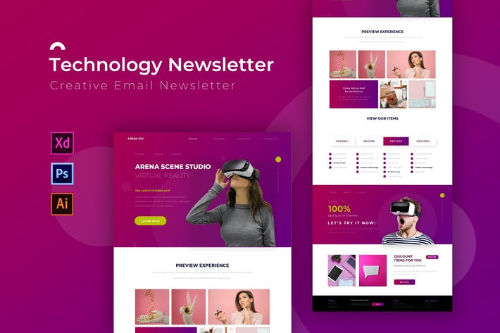 Thumbnail for Technology | Newsletter Template