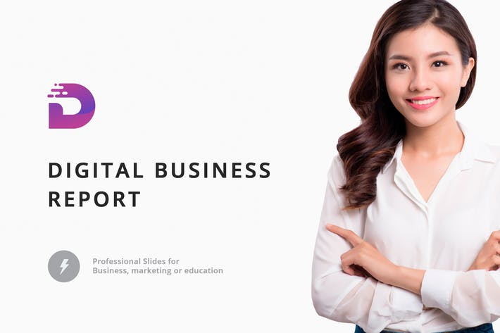 Thumbnail for Digital Business Report PowerPoint