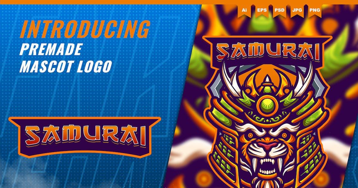 Download Tiger Samurai - Mascot Esport Logo Template by FNRGraphics