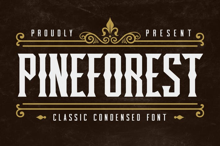 Thumbnail for Pineforest - Police condensée classique