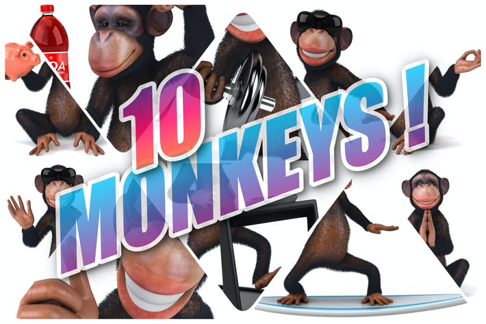Thumbnail for 10 fun Monkeys !
