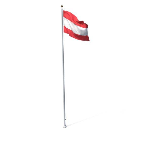 Fahne auf Pole Österreich