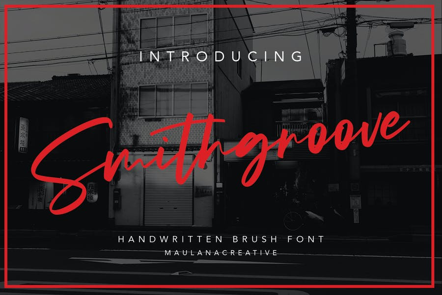 Smithgroove Handwritten Brush Font