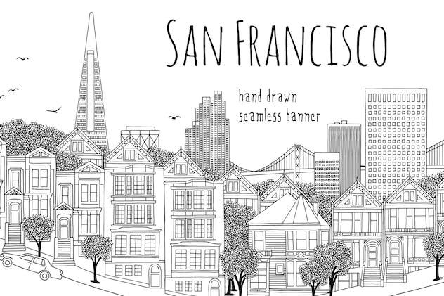 San Francisco - Seamless Banner