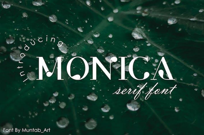 Monica | Fuente Con serifa moderna