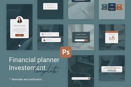 Benachrichtigung Instagram-Vorlagen für Finanzen