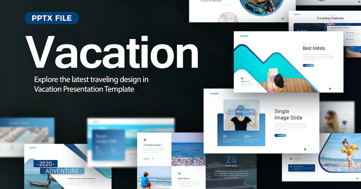 Download Vacation Travelling Presentation Template by BrandEarth