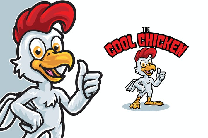 Thumbnail for Cool Chicken Logo Mascot Template