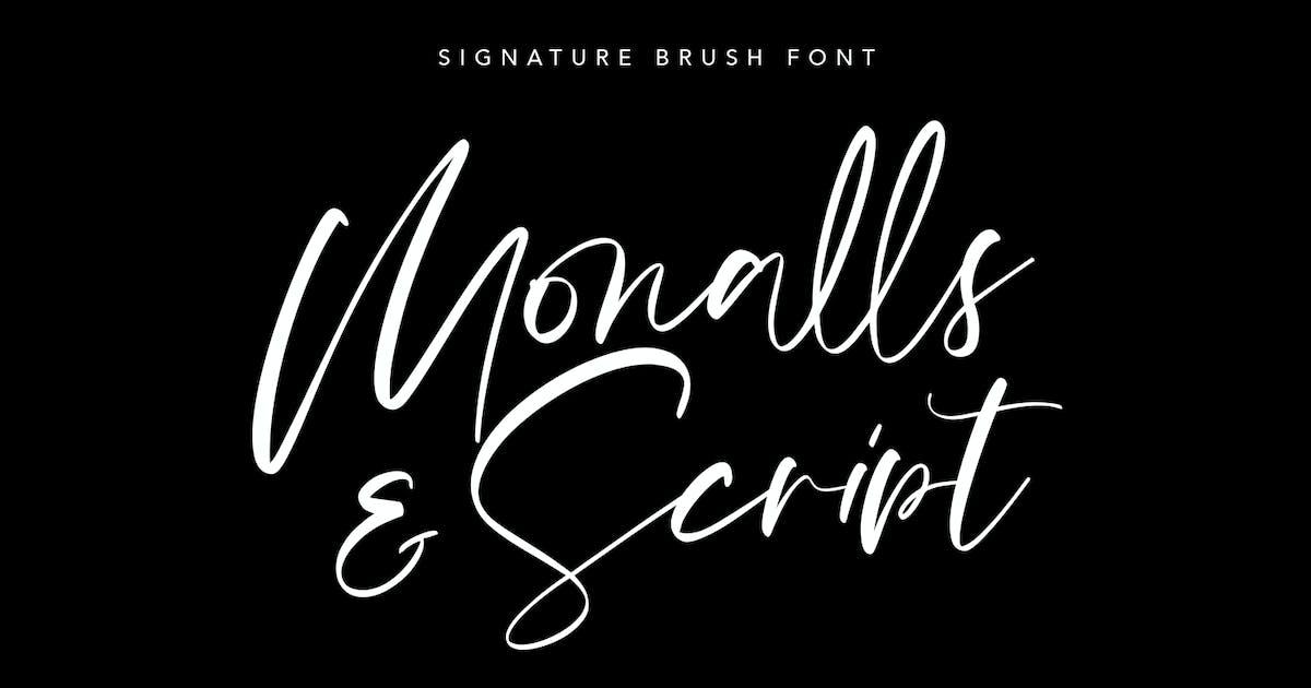 Download Monalls Script Signature Brush Font by maulanacreative
