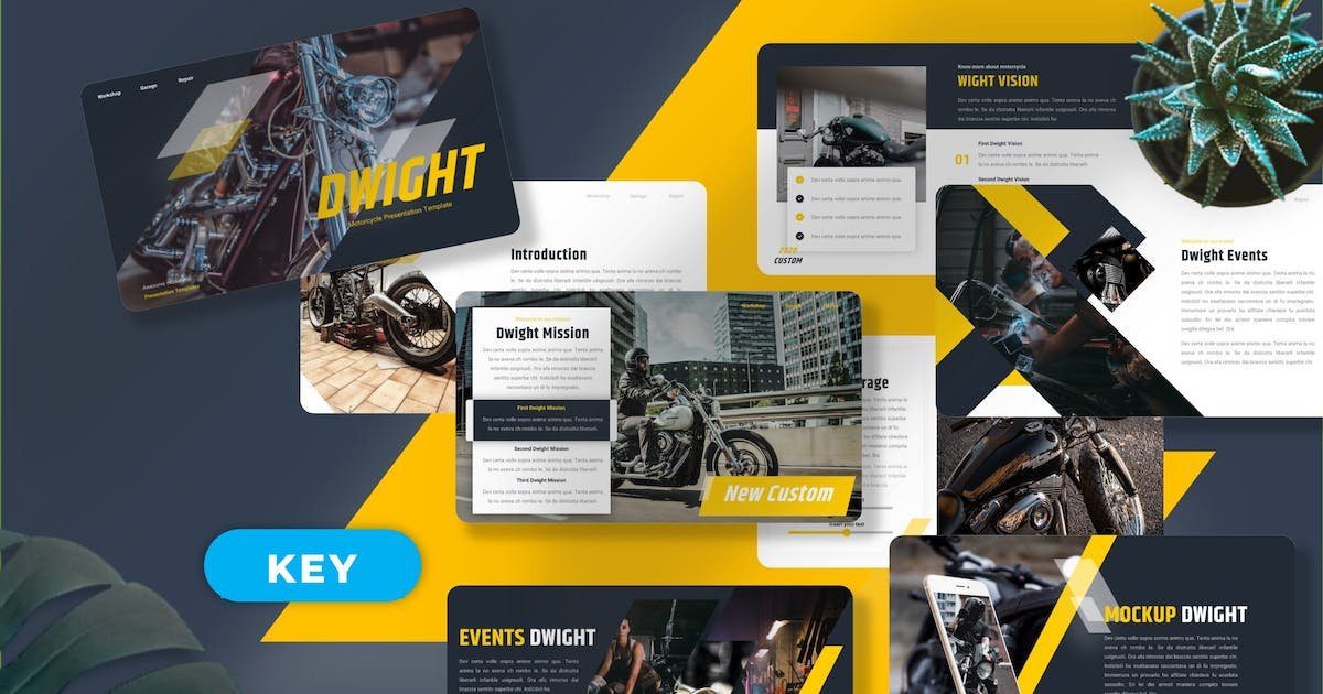 Download Dwight - Motorcycle Keynote Templates by Yumnacreative