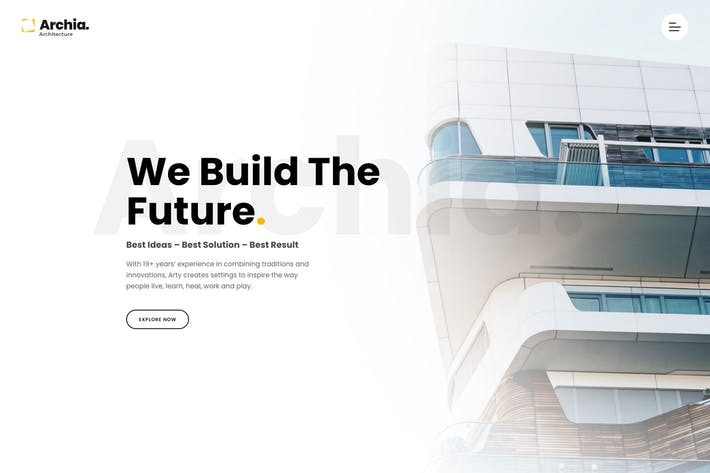 Thumbnail for Archia - Architecture & Interior WordPress Theme