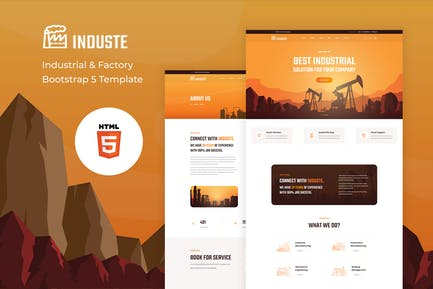 Induste - Industrial & Factory Bootstrap Template