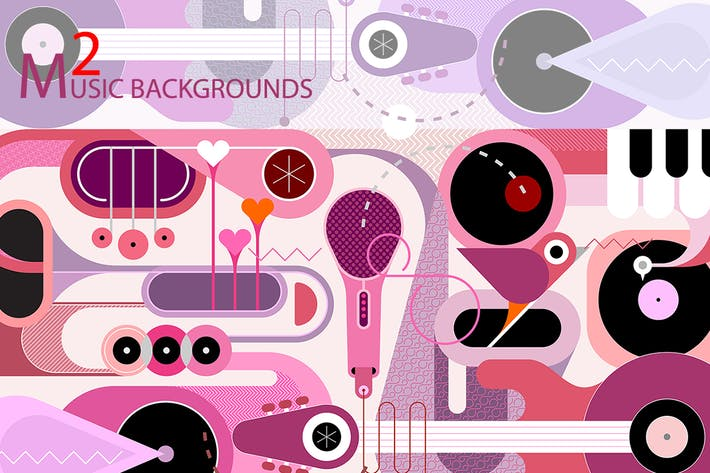 Thumbnail for Music Background vector illustrations