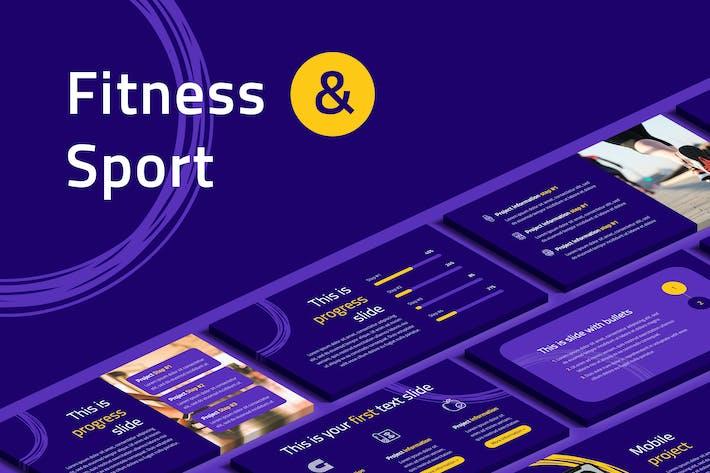 Thumbnail for Fitness & Sport Google Slides Template