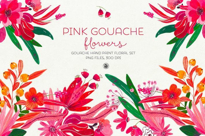 Rosa Gouache Blumen