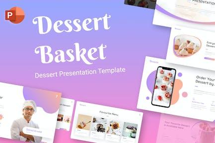 Dessert Basket Food Creative PowerPoint Template