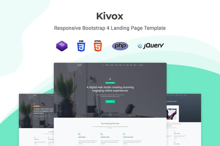 Thumbnail for Kivox - Responsive Landing Page Template