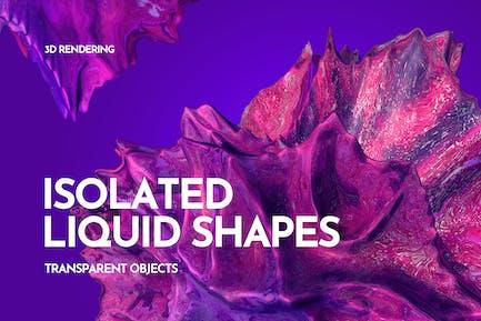 Transparent Liquid Shapes 3D Rendering