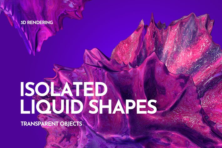 Thumbnail for Transparent Liquid Shapes 3D Rendering