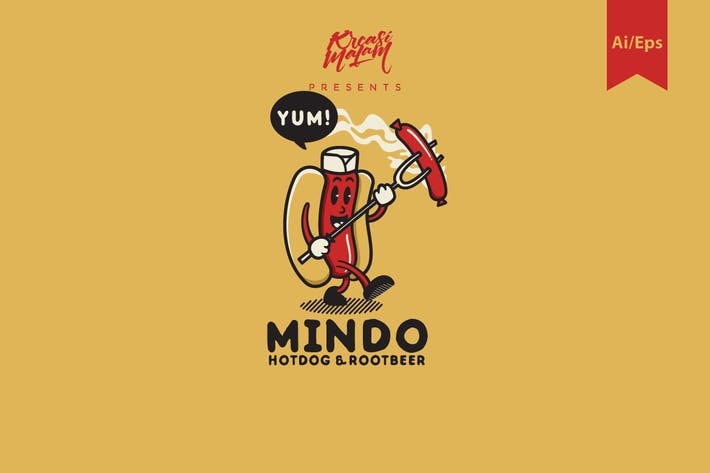 Thumbnail for Mindo Hotdog Logo Template